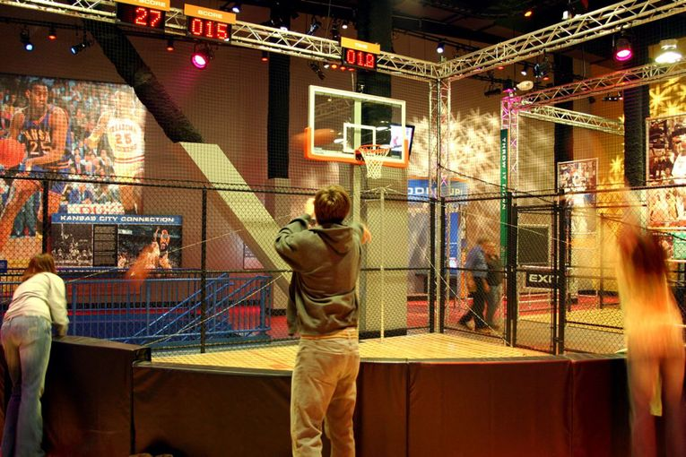 College Basketball Experience Interior