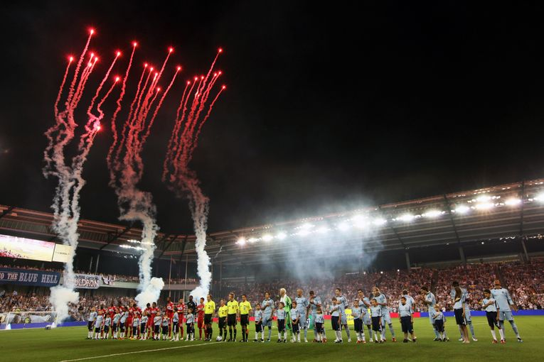 Celebratory Fireworks at Sporting Park