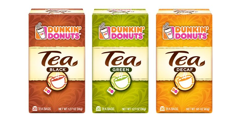 PACKAGED TEA HAS A NEW LOOK AT DUNKIN' DONUTS