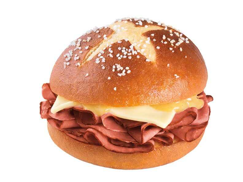 DUNKIN' DONUTS ROLLS INTO AUGUST WITH A FULL LINE OF CARAMEL ICED COFFEE FLAVORS AND NEW PRETZEL ROLL ROAST BEEF SANDWICH