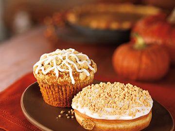 Pumpkin muffin and donut
