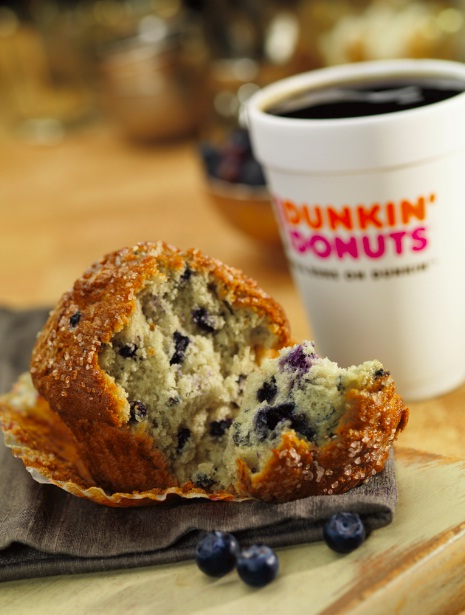 Blueberry Muffin w Steam Dunkin Donuts Coffee Flavors