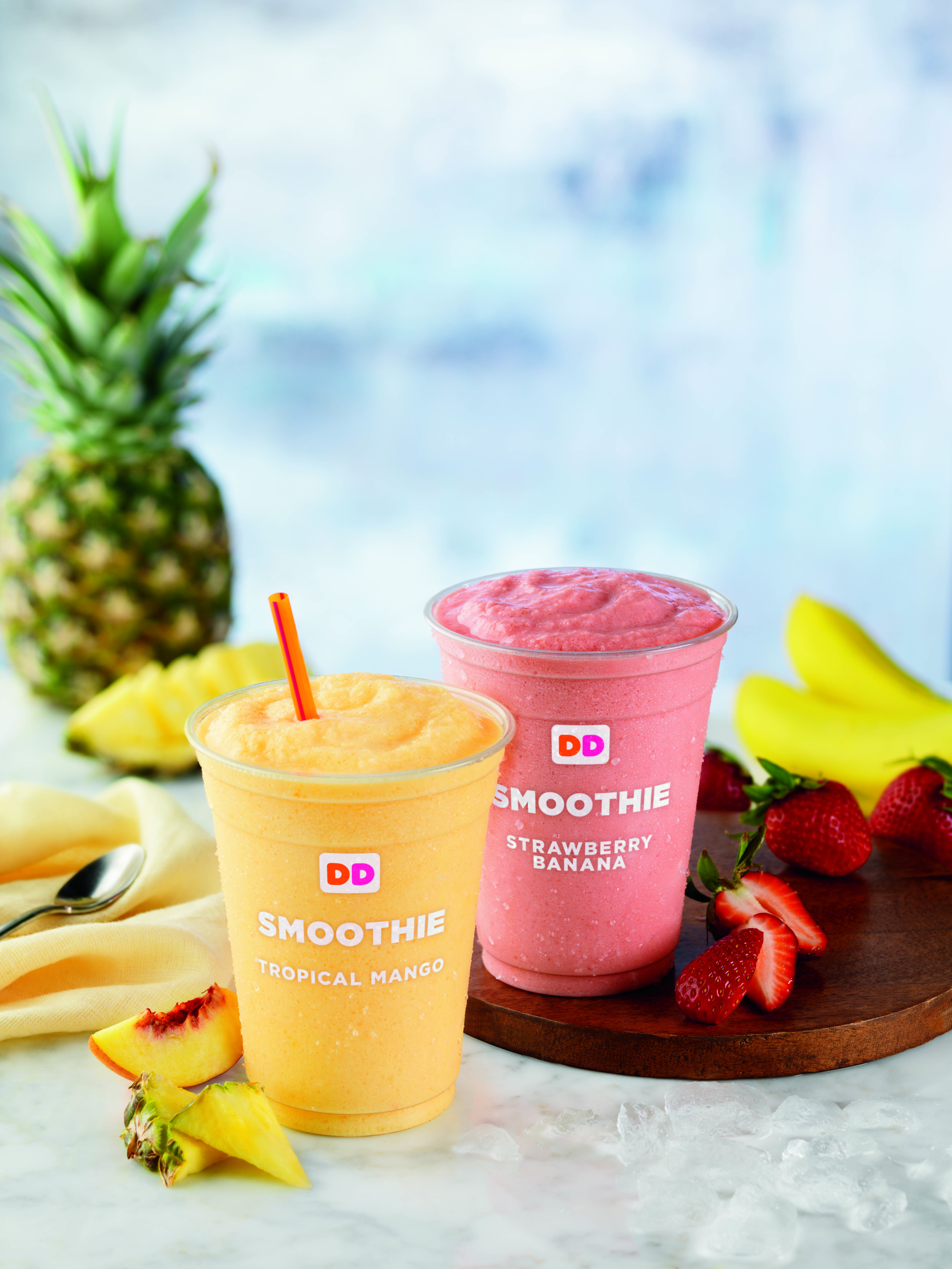 Summer Brings New Fruit Smoothies To Dunkin Donuts