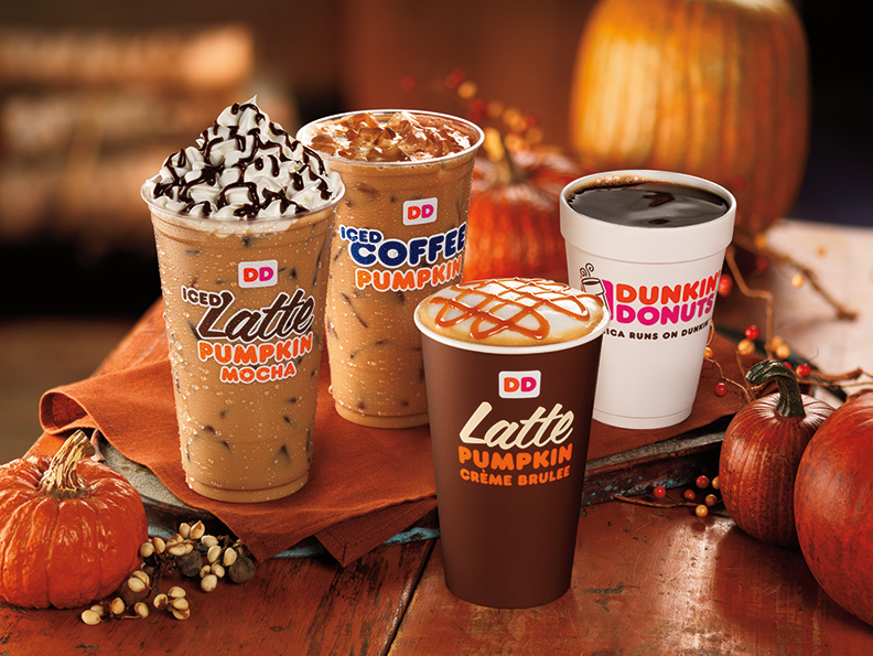New Pumpkin Cr 200 Me Brulee Coffee And Lattes Join Dunkin