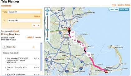 Dunkin Donuts Location Map on