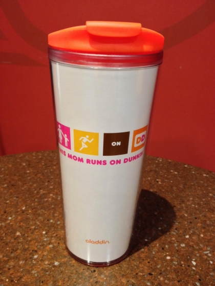 4528b4c19aa THIS MOM RUNS ON DUNKIN' TUMBLER: Whether driving to little league  practice, keeping it real at the office, or giving a hug when we need it  most, ...