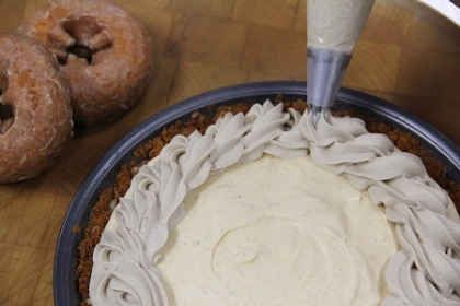 Culinary Corner: No-Bake Pumpkin Pie with a Donut Crust!