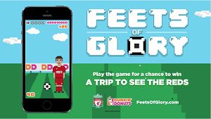 """Play """"Feets of Glory"""" For A Chance To Win A Trip To See Liverpool FC Play!"""