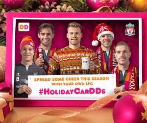 Score! Dunkin' Donuts and Liverpool FC Holiday eCards are coming your way!