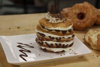 Craving something DDelicious? Try our Croissant Donut Tiramisu Napoleon!