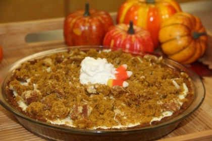 Chef's Corner: Pumpkin Muffin Cheesecake Pie