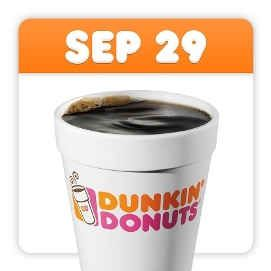 Dunkin' Donuts Celebrates National Coffee Day