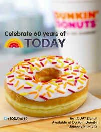 Dunkin' Donuts Introduces TODAY Donut, Shares How To Make a Mini Donut Cake