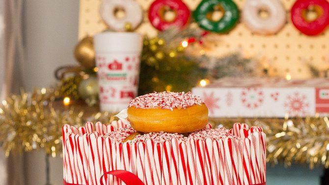 Get festive with these candy cane crunch cake and donut wall recipes