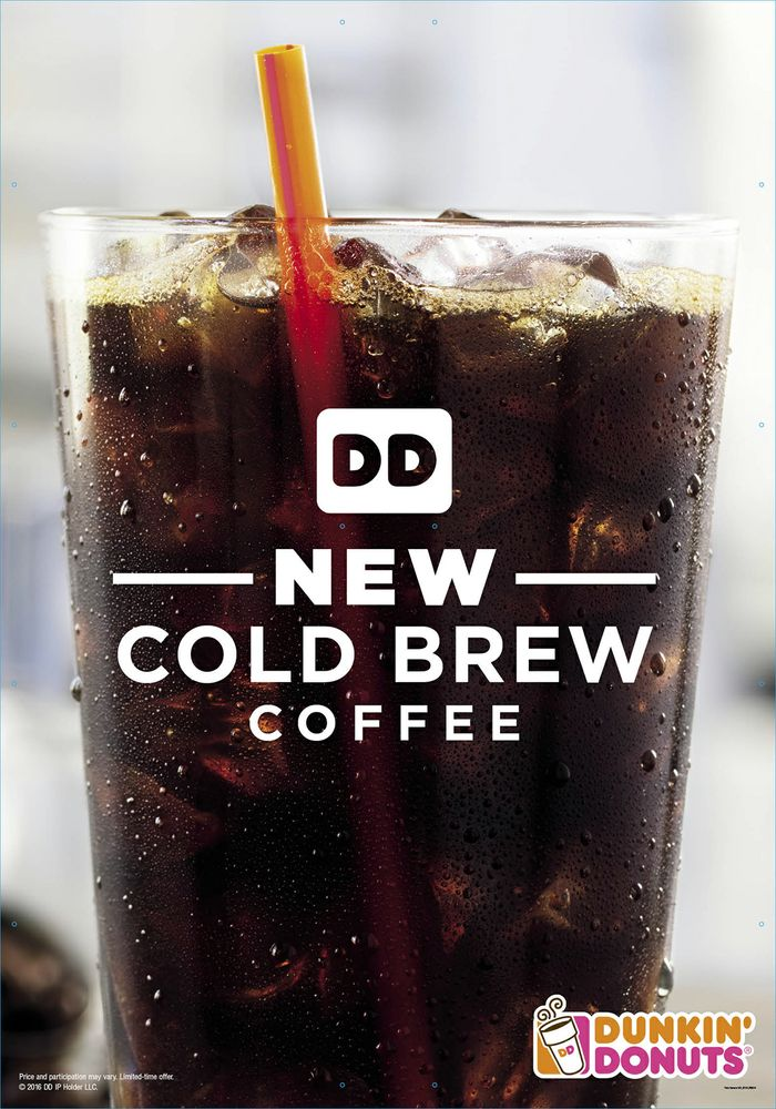 Dunkin' Donuts Adds Cold Brew Coffee to Menu