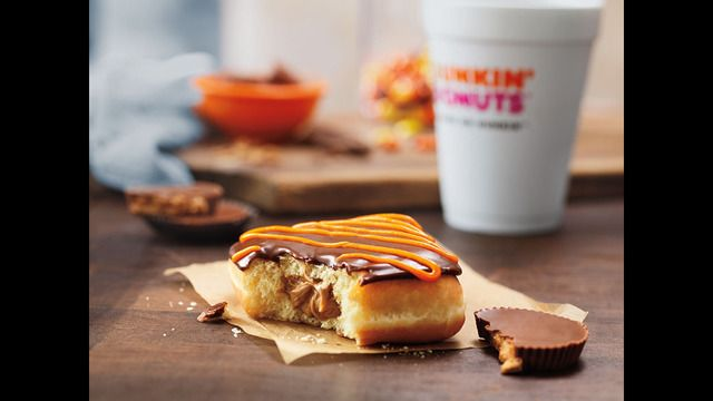 Delicious, Delectable Donuts Join Dunkin' Donuts' Fall Menu: REESE'S Peanut Butter Square and New Caramel Apple Croissant Donut
