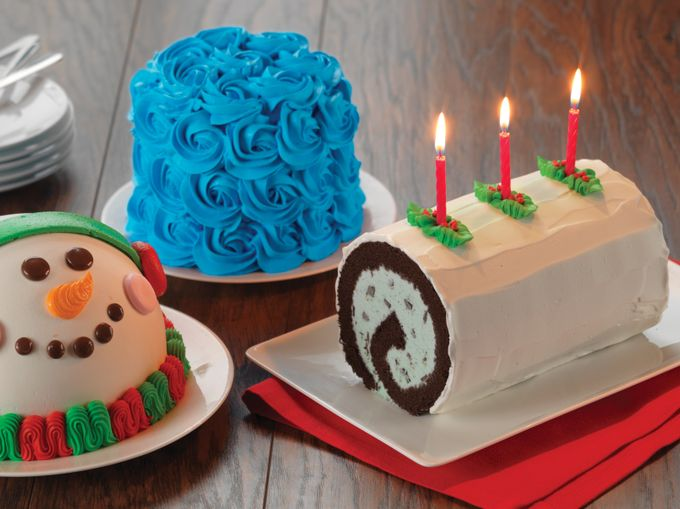 Baskin-Robbins Holiday Cakes Lineup