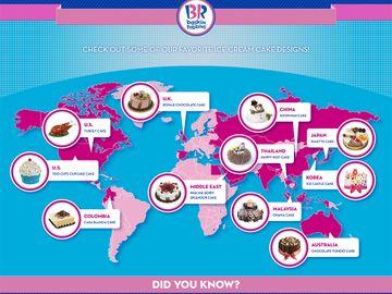 Baskin-Robbins Ice Cream Cake Inforgraphic