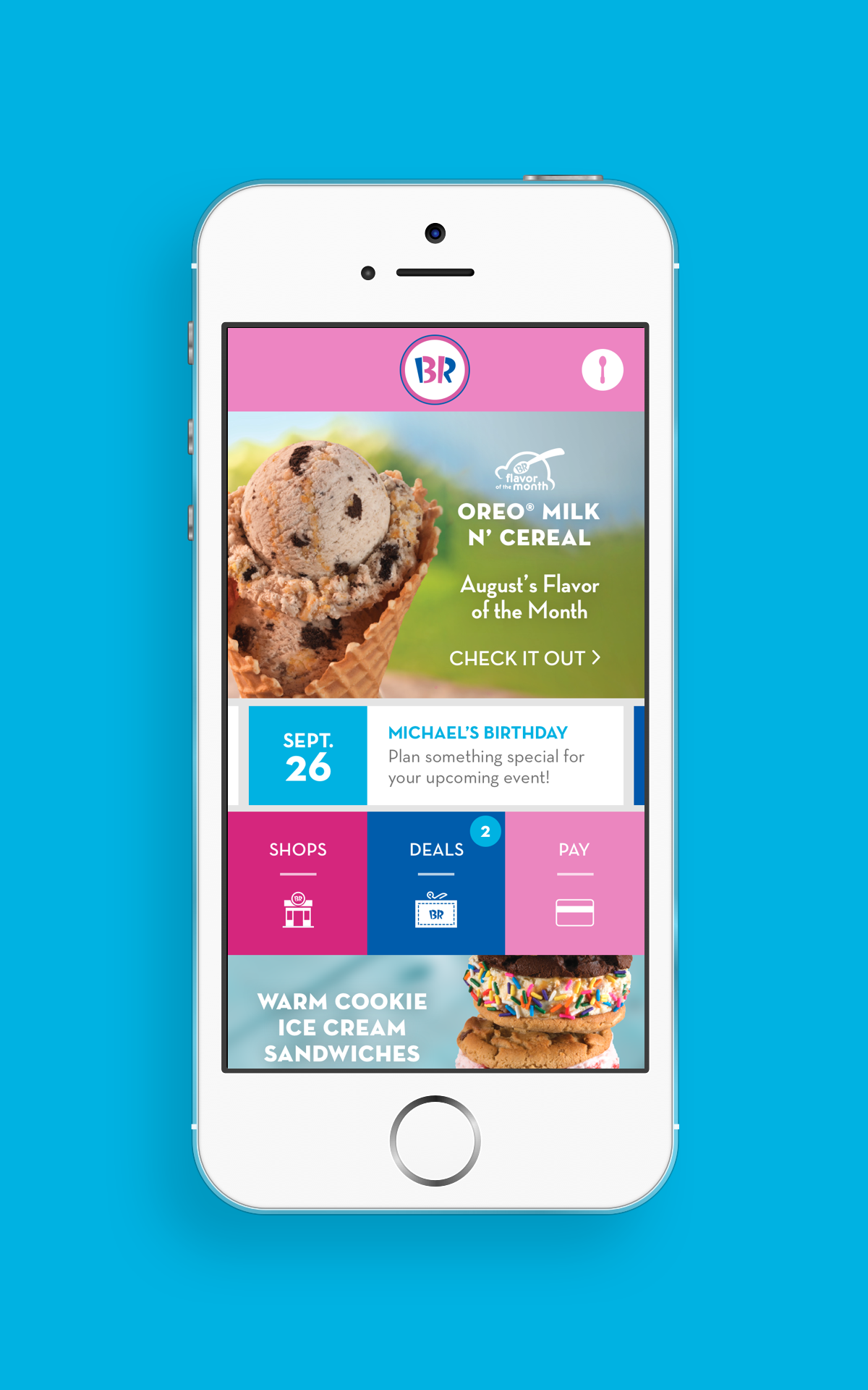 Baskin Robbins Launches New Mobile App Available For Iphone And Android Users Baskin Robbins
