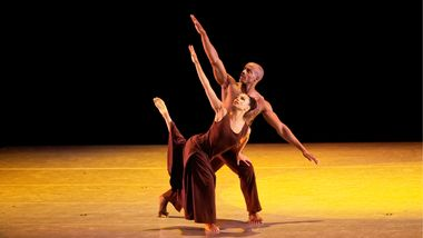Alvin Ailey American Dance Theater's Belen Pereyra and Collin Heyward in Alvin Ailey's Revelations