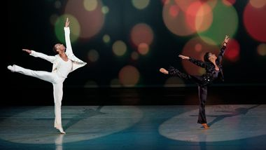 Sean Aaron Carmon and Jacquelin Harris in Alvin Ailey's Pas de Duke