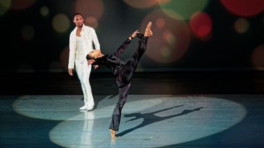 Jacquelin Harris and Sean Aaron Carmon in Alvin Ailey's Pas de Duke