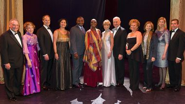 Gala Co-Chairs with Artistic Director Robert Battle and Artistic Director Emerita Judith Jamison