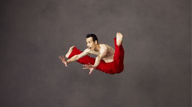Alvin Ailey American Dance Theater's Kanji Segawa in Robert Battle's Takademe
