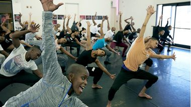 Hope Boykin teaching master class at Moving Into Dance in Newton