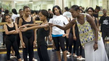 Nasha Thomas with Newark AileyCampers