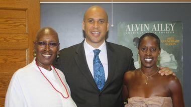 Judith Jamison, Mayor Cory Booker and Nasha Thomas at AileyCamp Newark
