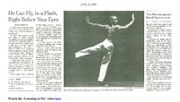 The New York Times - He Can Fly, In A Flash, Right Before Your Eyes