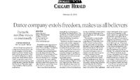 Calgary Herald - Dance Company Extols Freedom, Makes Us All Believers