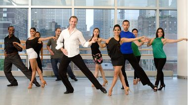 Salsa class at the Ailey Extension