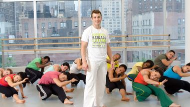 Capoeira class at the Ailey Extension