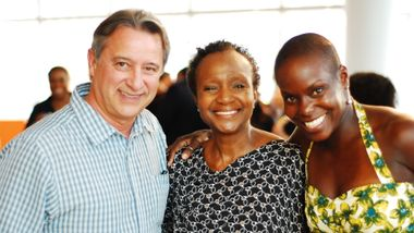 Eduardo Patino, Sylvia Waters and Hope Boykin