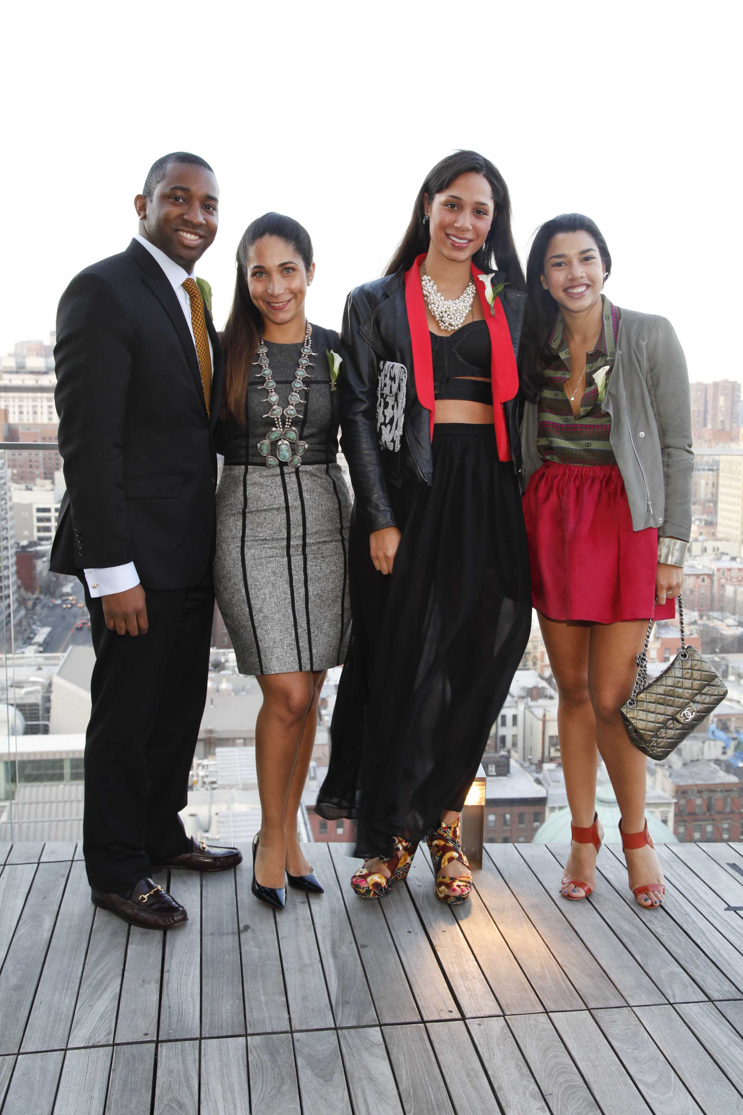 Jay Lundy, Honor McGee, Jenny Obiaya and Hannah Bronfman