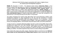 NAHYP Award Release - AileyCamp Miami - FINAL - Embargoed until 11-15
