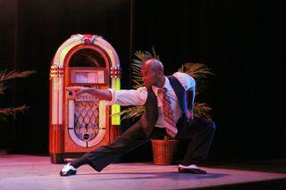 Alvin Ailey American Dance Theater's Glenn Allen Sims in Alvin Ailey's Masekela Langage