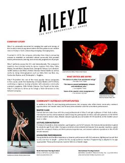 2016 Ailey II Complete Electronic Press Kit