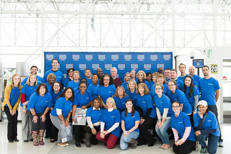 Northrop Grumman Assembles More than 1,000 USO Care Packages for Troops at BWI
