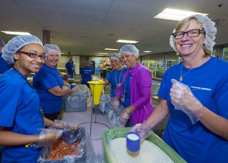Northrop Grumman Sends Hunger Packing During Hunger Action Month