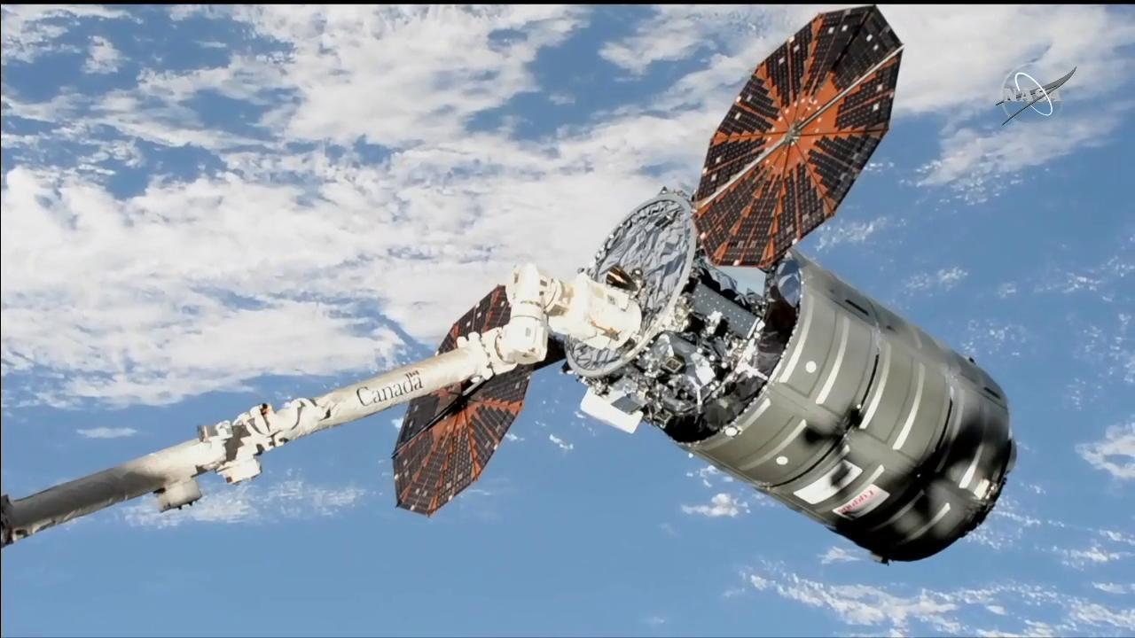 northrop grumman s cygnus spacecraft successfully completes