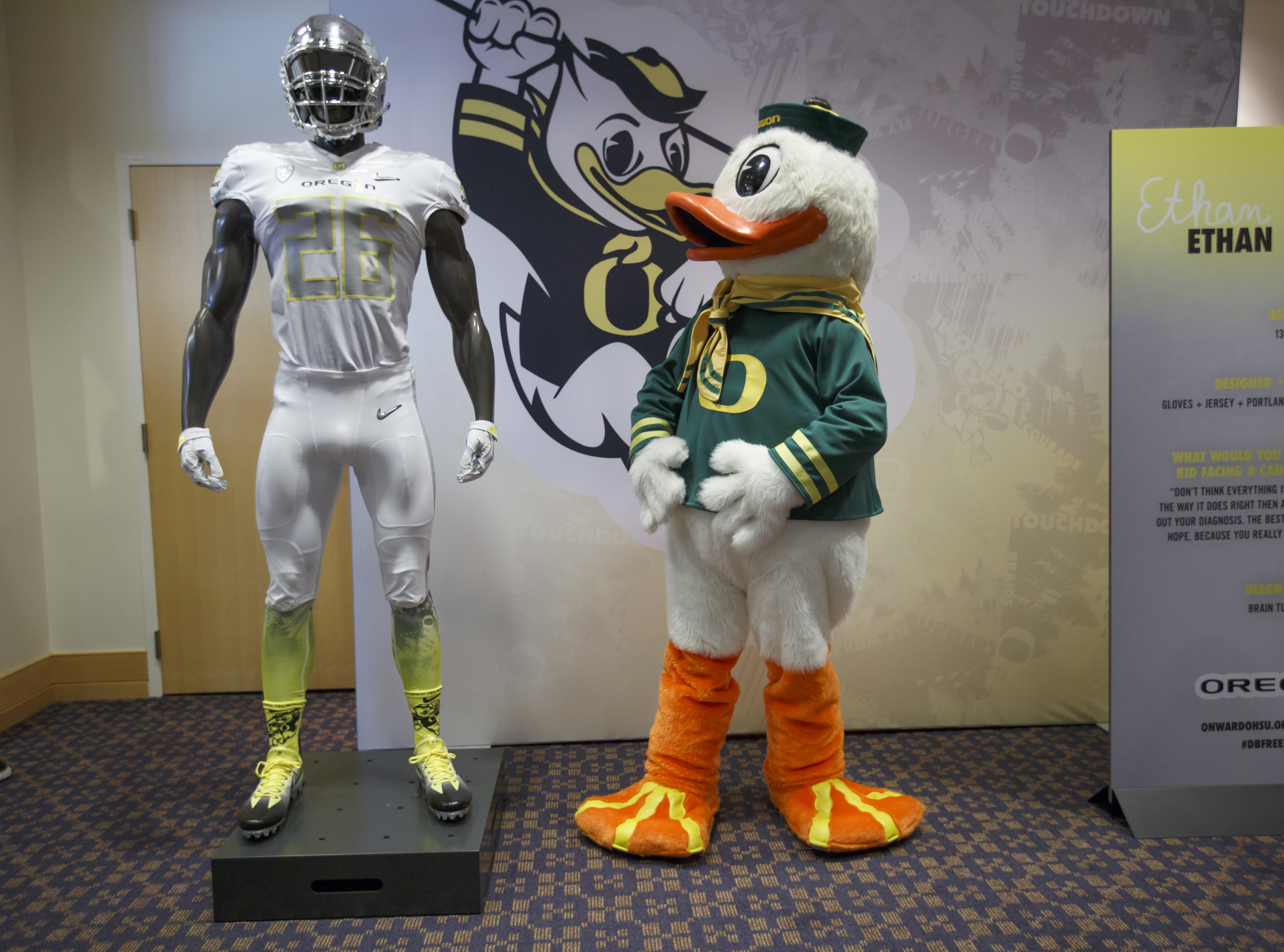 ff99db6f219 Nike unveiled a new football uniform designed for the University of Oregon  through a partnership with OHSU Doernbecher Children s Hospital