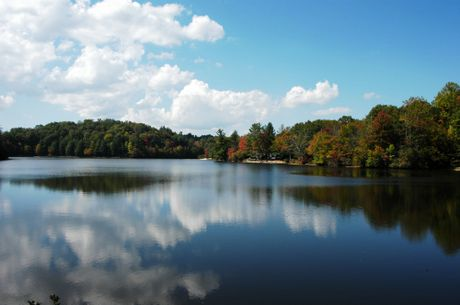 A lake seen in the fall of the year in North Carolina . Shutterstock 20248045