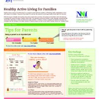 Fact Sheet - Healthy Active Living For Families