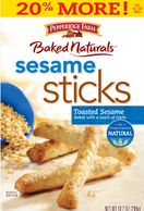 "Sept. 23, 2011 - Pepperidge Farm is voluntarily recalling a limited quantity of 10.2-ounce boxes of Baked Naturals Sesame Sticks 20% More! with ""Sell By"" dates of 11/20/11 through 1/1/12 marked on the package."