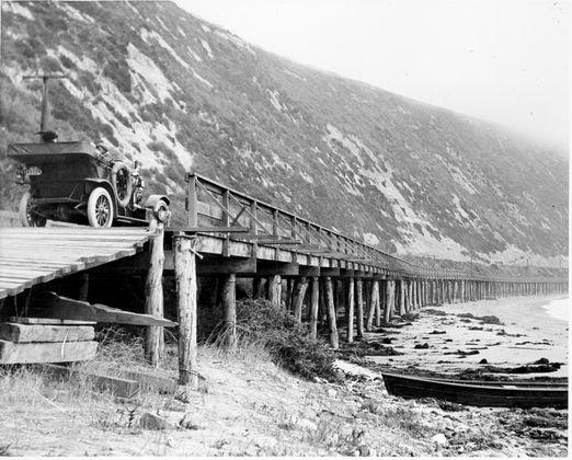 Rincon Causeway North Of Ventura 1912 Aaa Socal
