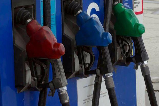 gas pumps lower tricolor horizontal