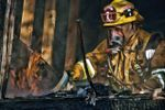 Firefighter at Mission Hills Fire